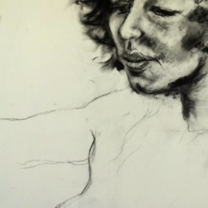 Natalie, charcoal on paper