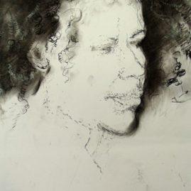 Portrait drawing by Annie le Roux