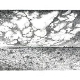 Fine Art landscape drawing with ink of the Tankwa Karoo landscape