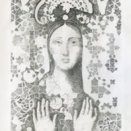 Fine Art 'Madonna' ink drawing
